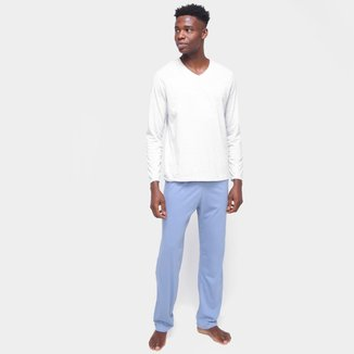 Pijama Longo Hering Básico Liso Masculino