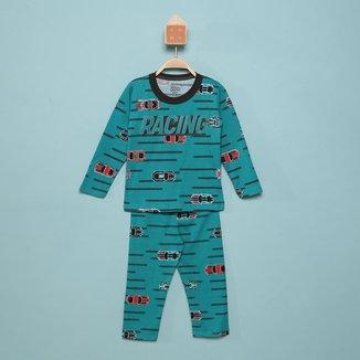 Pijama Longo Infantil Elian Carros Masculino