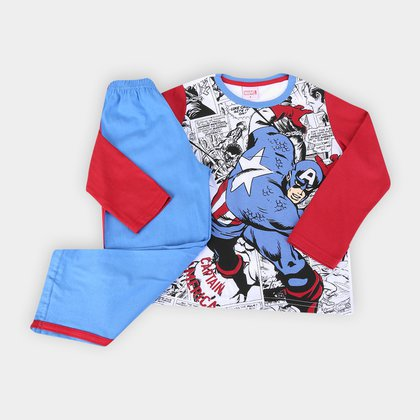 Pijama Longo Infantil Evanilda Avengers