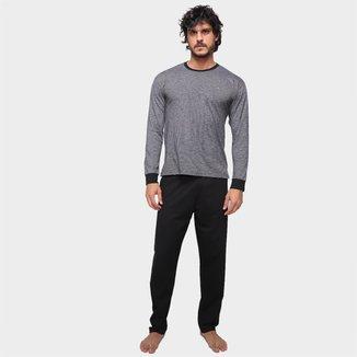 Pijama Longo  Malwee Básico Masculino