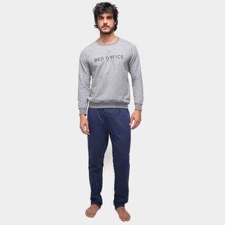 Pijama Longo Moletom Malwee Bed Office Masculino