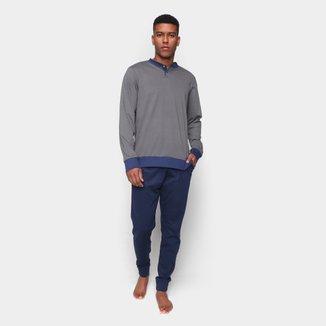 Pijama Longo Volare Bicolor Masculino