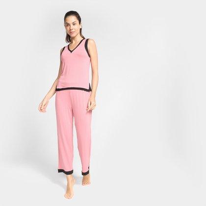 Pijama Longo Volare Regata Lisa Feminino