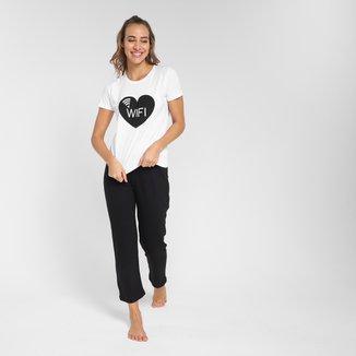 Pijama Longo Volare WiFi Feminino