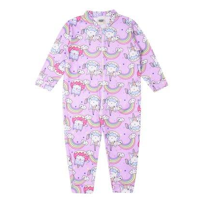 Pijama Macacão Bebê Duzizo Soft Estampado Feminino