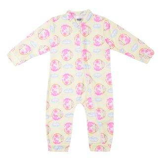 Pijama Macacão Bebê Duzizo Soft Unicórnio Feminino