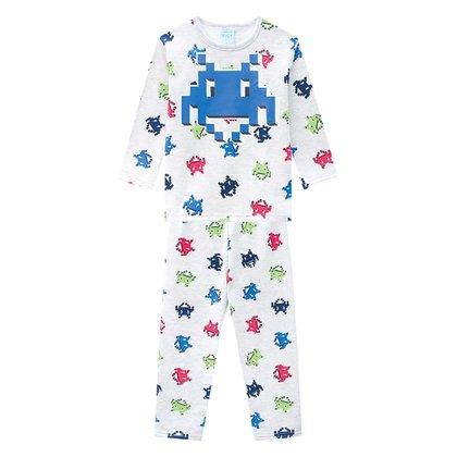Pijama Moletom Infantil Kyly Peluciado Brilha no Escuro Masculino