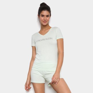 Pijama Short Doll Calvin Klein Gola V Feminino