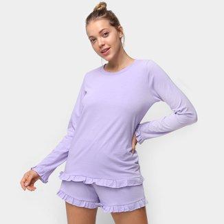 Pijama Volare Babado Feminino