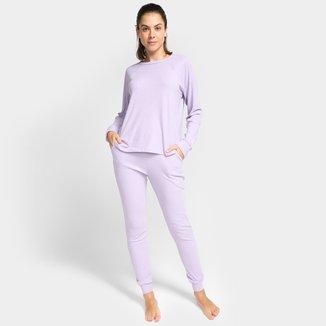 Pijama Volare Longo Canelado Feminino