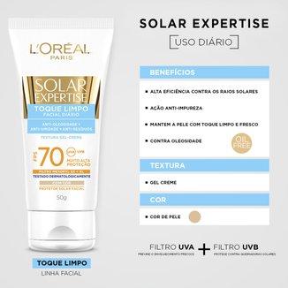 Protetor Corporal L'oréal Paris Solar Expertise Toque Limpo Com Cor Fps 70 50g