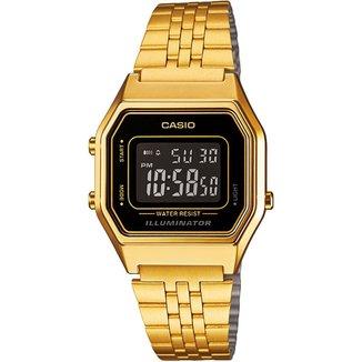 Relógio Digital Casio Vintage LA680WA-1B Feminino