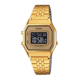 Relógio Digital Casio Vintage LA680WGA-9B Feminino