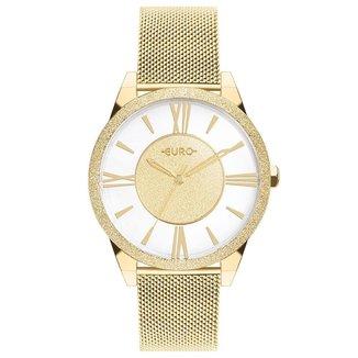 Relógio Euro Ouse Ser Voce Mesma Feminino Dourado EU2036YQF