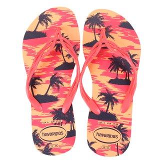 Sandália Havaianas Flash Sweet Summer Coqueiro Feminino