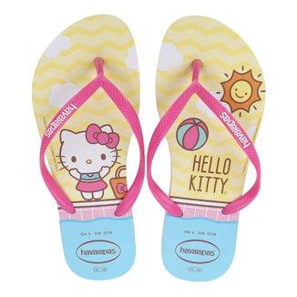 Sandália Havaianas Slim Hello Kitty Feminina