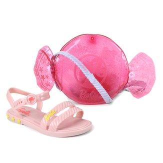 Sandália Infantil Barbie + Bolsa Candy Bag Feminina