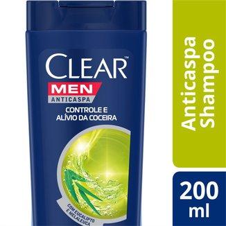 Shampoo Anticaspa Clear Men Controle e Alívio da Coceira 200 ML