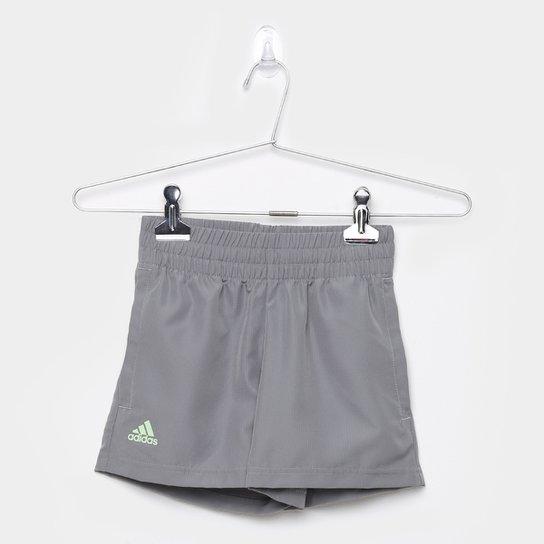 Short Infantil Adidas Club B Masculino - Cinza+Verde