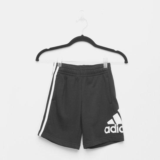 Short Infantil Adidas Jb Bos Masculino - Preto+Branco