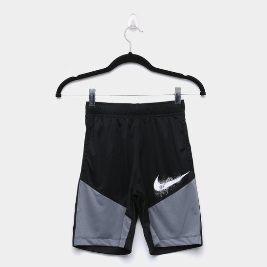 Short Infantil Nike Dominate GFX Masculino - Preto+Cinza