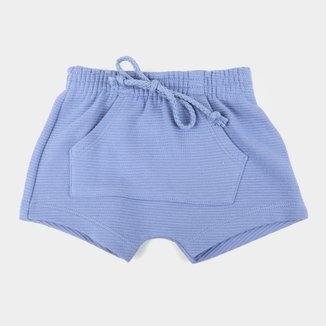 Shorts Bebê Hering Bolso Canguru Básico Masculino