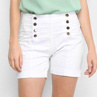 Shorts Ecxo 1/2 Botões Dourados Feminino