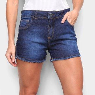 Shorts Jeans TKS Barra Desfiada Feminino