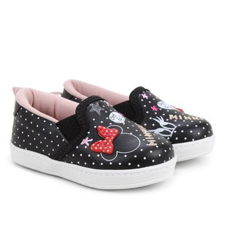 Slip On Infantil Disney Minnie Fashion Feminino