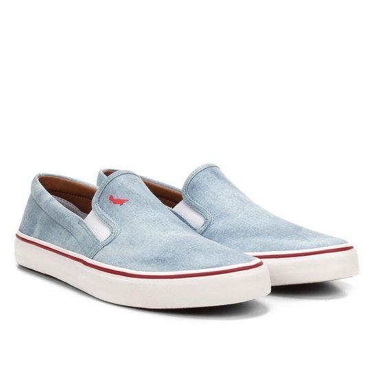 Slip On Reserva Jeans Básico Masculino - Azul