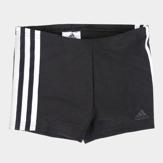 Sunga Infantil Boxer Adidas Fit 3 Listras