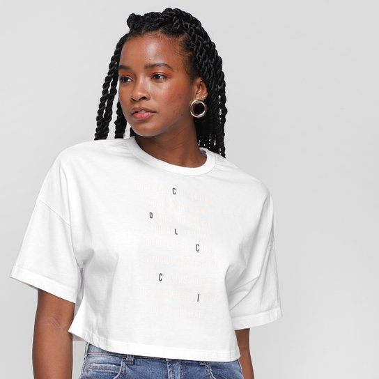 T-shirt Colcci Edtampada Feminina - Off White