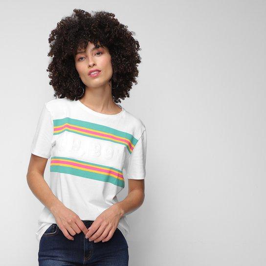 T-Shirt Oh,Boy! Relevo Feminina - Off White