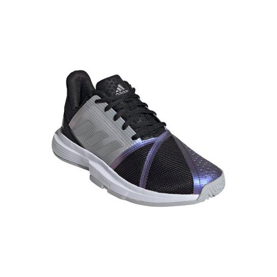 Tênis Adidas Courtjam Bounce Feminino - Preto+Prata