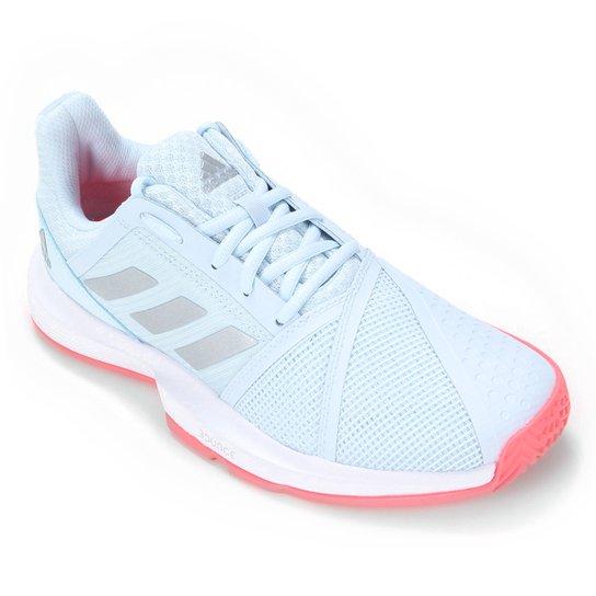 Tênis Adidas Courtjam Bounce Feminino - Azul+Prata