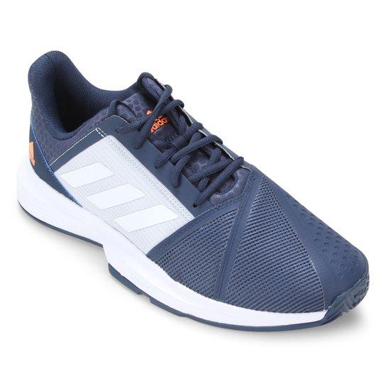Tênis Adidas Courtjam Bounce Masculino - Azul+Branco