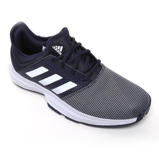 Tênis Adidas Gamecourt Masculino - Marinho+Branco