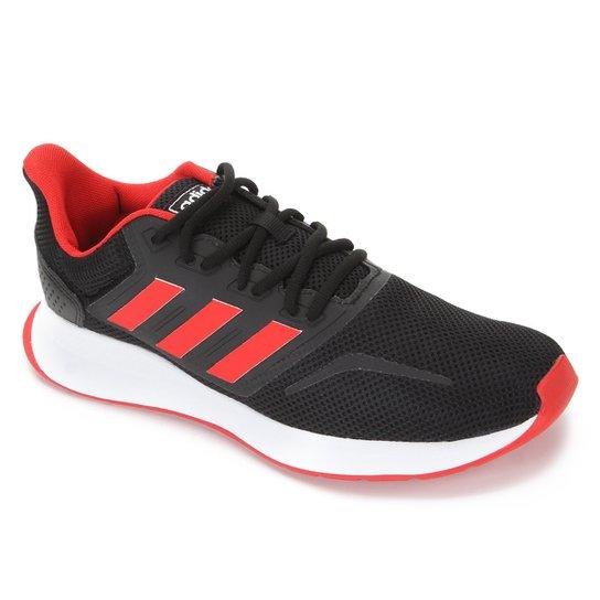 Tênis Adidas Runfalcon Masculino - Preto+Vermelho