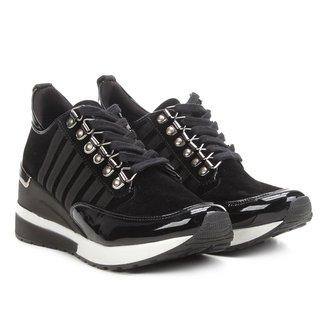 Tênis Anabela Santa Lolla Sneaker Listras Nobuck Feminino