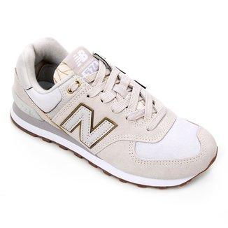Tênis Couro New Balance 574 Feminino
