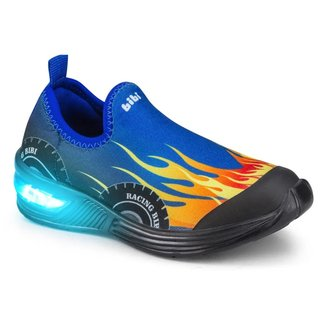 Tênis Infantil Bibi Led Space Wave Carro Masculino