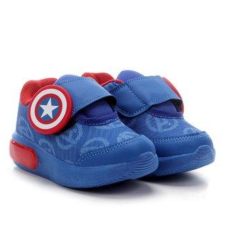 Tênis Infantil Marvel Capitão América Velcro Gel