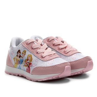 Tênis Jogging Infantil Disney Princesas Feminino