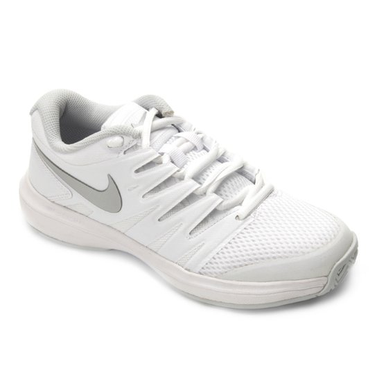Tênis Nike Air Zoom Prestige HC Feminino - Branco+prata