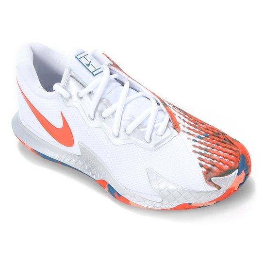 Tênis Nike Air Zoom Vapor Cage 4 HC Masculino - Branco+Laranja