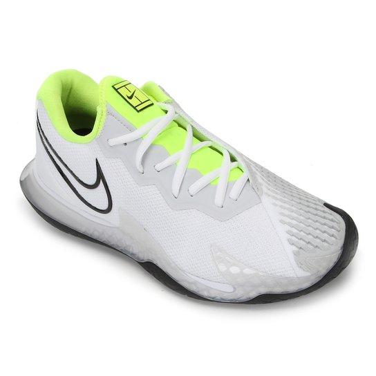 Tênis Nike Air Zoom Vapor Cage 4 HC Masculino - Branco+Verde Limão