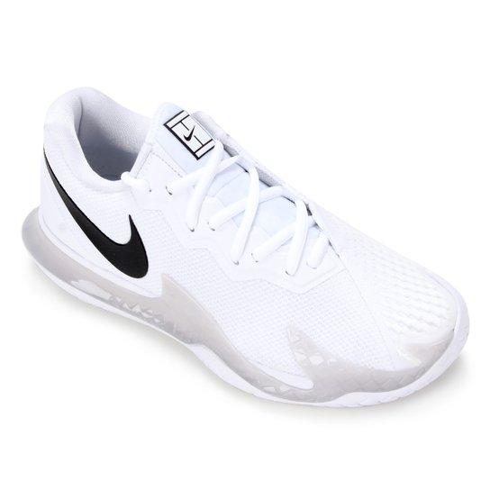 Tênis Nike Air Zoom Vapor Cage 4 HC Masculino - Branco+Preto