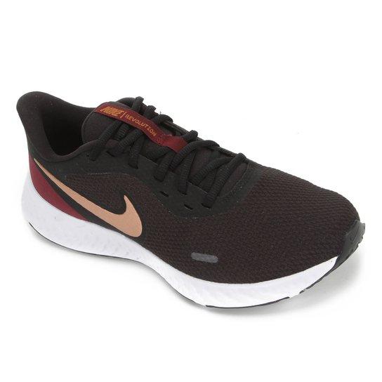 Tênis Nike Revolution 5 Feminino - Preto+Vermelho