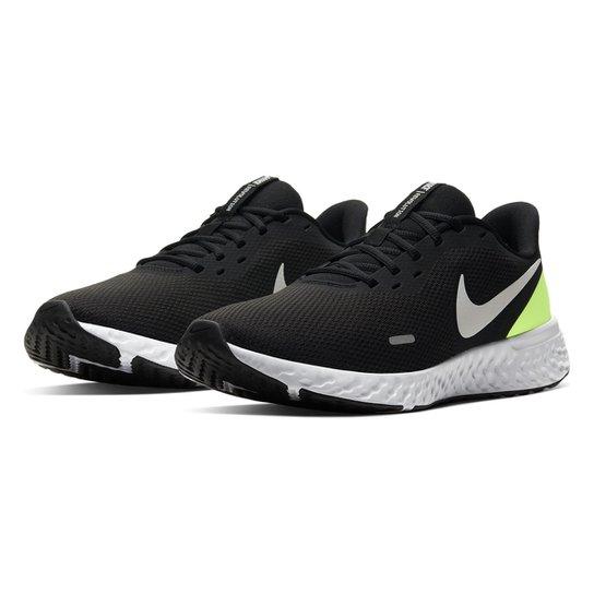 Tênis Nike Revolution 5 Masculino - Branco+Preto