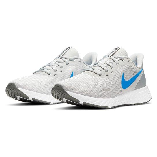 Tênis Nike Revolution 5 Masculino - Cinza+Azul